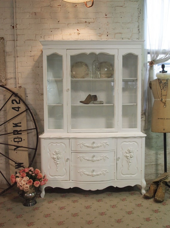 Painted Cottage Chic Shabby White Romantic French China