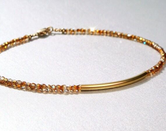 Stacking Bracelets, Delicate, Minimalist, Swarovski Crystal Bracelet ...
