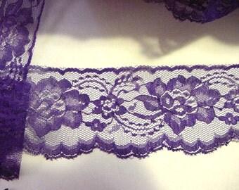 "3"" Delicate Flat Purple Lace  (10 yards)"