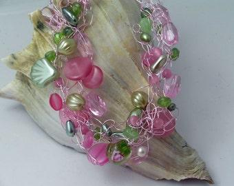 Rose Garden Crocheted Necklace