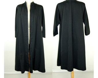 1950s dress coat, ottoman silk coat, Vogue Couturier, swing coat, dolman sleeves, Size S/M