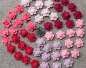 Perfectly Pink - Tiny Flowers - 54 Die Cut Felt Flowers
