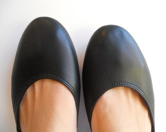 MAYA - Ballet Flats -39- Black Leather-  Available in different colours & sizes
