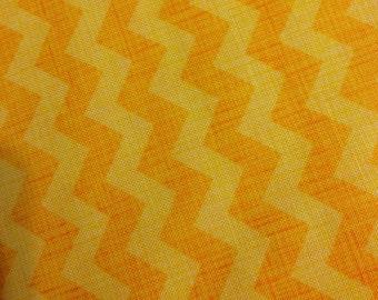 Yellow chevron fabric by the yard