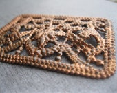 Vintage copper filigree finding