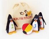 Toy Plush Game Bowling Penguins