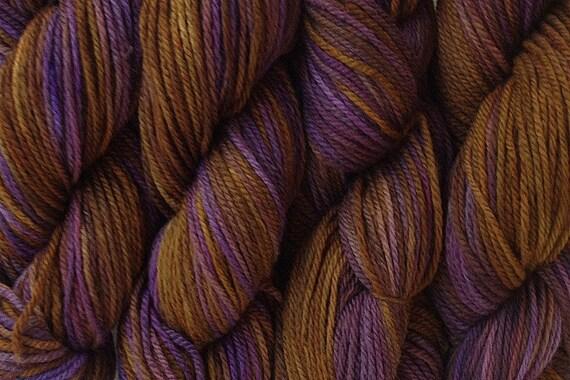 Handpainted Merino Yarn DK Sport Weight Wool in Mocha Bean