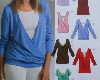 Womens Top and Tank Top Sewing Pattern UNCUT McCalls M5271 Sizes 4-14