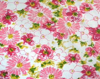 pink hawaiian punch, a vintage sheet fat quarter