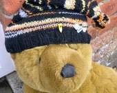 One of a kind quirky handknitted hat for inspiration: Writing Hat