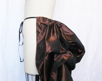 steampunk bustle-bustle skirt-copper bustle-ready to ship-tie on bustle-bustle skirt-the secret boutique-bustle-copper-halloween-renaissance