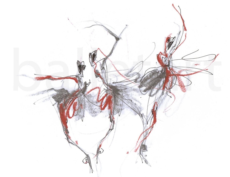 Ballet Dancer Pencil Drawing on Ballerina Sketch Art