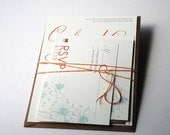 The Lila Collection - Vintage Inspired Floral Wedding Invitation Set in Coral, Mint, Gray and Cream - Purchase for a Sample