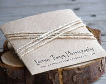 Letterpress Single Kraft CD or DVD Sleeves - photography packaging
