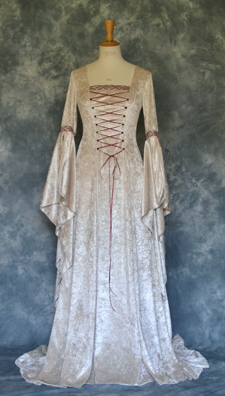 Items similar to jade a medieval style wedding dress with for Renaissance inspired wedding dress