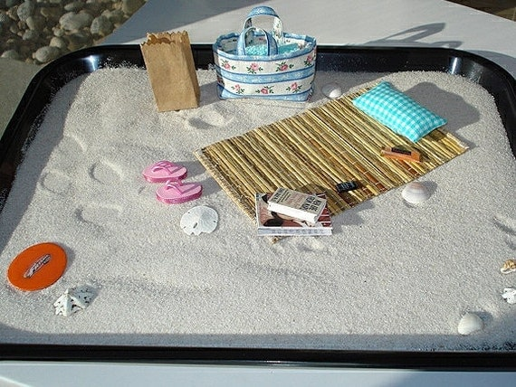 beach zen garden desktop beach mini beach by mytinyzebra. Black Bedroom Furniture Sets. Home Design Ideas