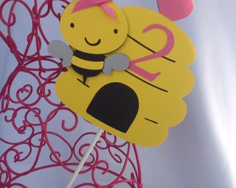 Buzzy Bee centerpiece for birthday or Baby Shower
