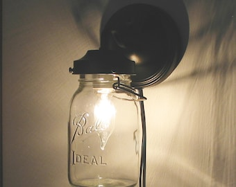 EXTERIOR Vintage Canning Jar SCONCE Light by LampGoods on Etsy