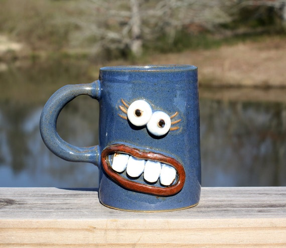 Funny MOTHER'S DAY. Coffee Cups Mugs. Handmade Pottery. Stoneware Mugs for Her