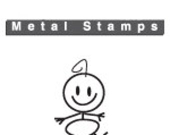 BABY Family Metal STAMP 6mm 1/4 inch by ImpressArt Jewelry Steel Punch for Hand Stamped Jewelry Craft Making Baby Shower Stick Figure
