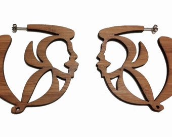 Logo SM Eco-Friendly Bamboo Earrings-KSE101005