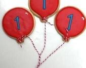 One Dozen - Birthday Balloon cookie favors