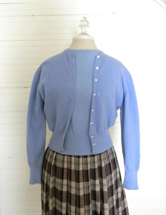 Vintage Sweater Set 1950s Cardigan Sweater Set Size Small