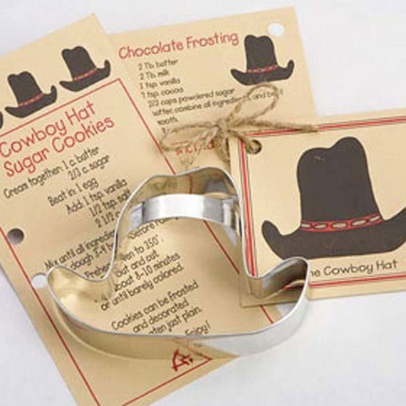 Cowboy Wedding Gifts: Items Similar To Cookie Cutter, Cowboy Hat Cooke Cutter