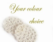 Lace Coasters in Tatting - Your Choice Of Colour - Set of two - Rosetta - Size 1
