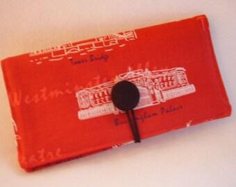 Buckingham Palace   Checkbook Cover , Vinyl Insert, Coupon, Wallet, Organizer Case