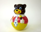 Wobble Chime Bear 1972 / Vintage First Years Toy - AttysSproutVintage