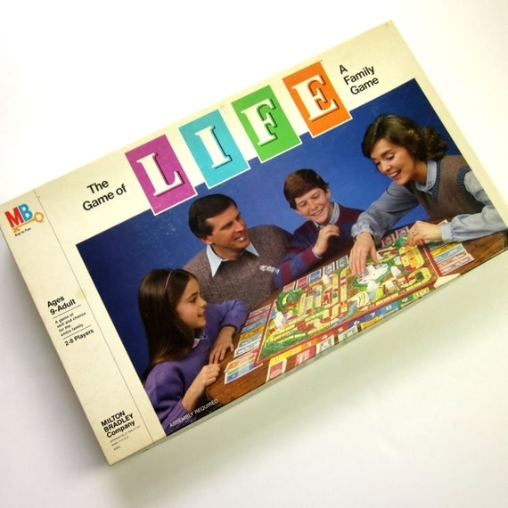 80 S Milton Bradley Toys : The game of life by milton bradley s attyssproutvintage