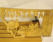 US STATE of MONTANA Scroll Saw Plaque