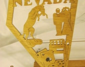 US STATE of NEVADA Scroll Saw Plaque