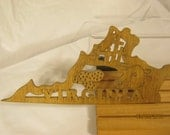 US STATE of  VIRGINIA  Scroll Saw Plaque