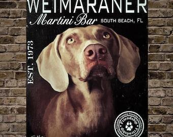 Weimaraner Martini Bar