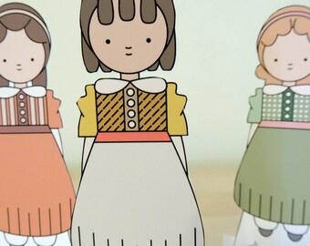 Louisa May Alcott Costume Paper Dolls
