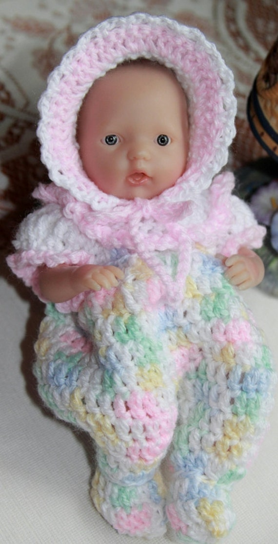 Pdf Pattern Crochet 7 5 8 Inch Baby Doll Sleeper By