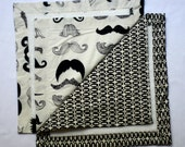 Small Baby Blankets- Mustache