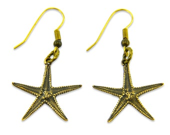Starfish Earrings - Cast from a Real Star Fish