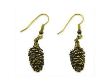 Tiny Pine Cone Earrings