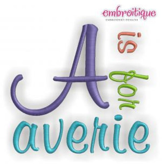 Averie Monogram Alphabet - Satin Stitch -Bx Files included -Instant Download Digital Files for Machine Embroidery