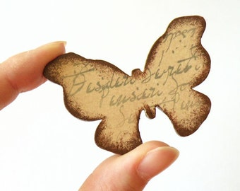 Wooden Butterfly Brooch - WISHES, SECRETS, THOUGHTS