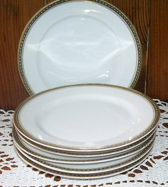 6 White China Bread Or Dessert Plates H Amp C Heinrich And