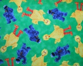 CUSTOM - Welcome to Sesame Street Big Bird Cookie Monster Quilting Treasures Fabric SALE 30% -2.5 YARDS