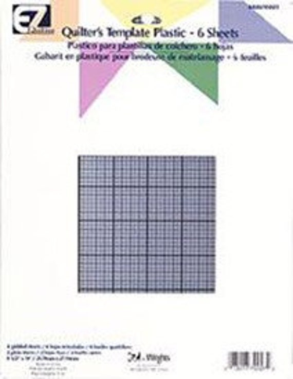 Grid Template For Quilting : Items similar to EZ Quilting Quilter s Template Grid Plastic 6 Sheets on Etsy
