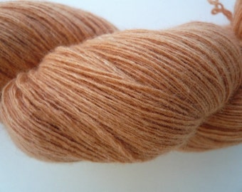 Apricot Reclaimed Luxury Blend Yarn Skein 3