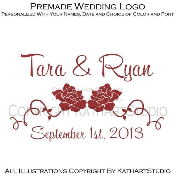 Items similar to premade wedding anniversary logo design