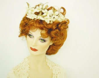Young Victoria- Ivory flower and pearl crown