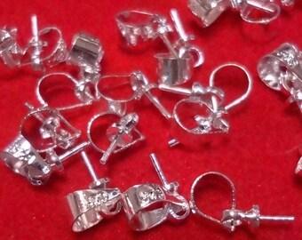 35pcs - 925 sterling silver -  Eye Pins - Top Pins - Bail Pins